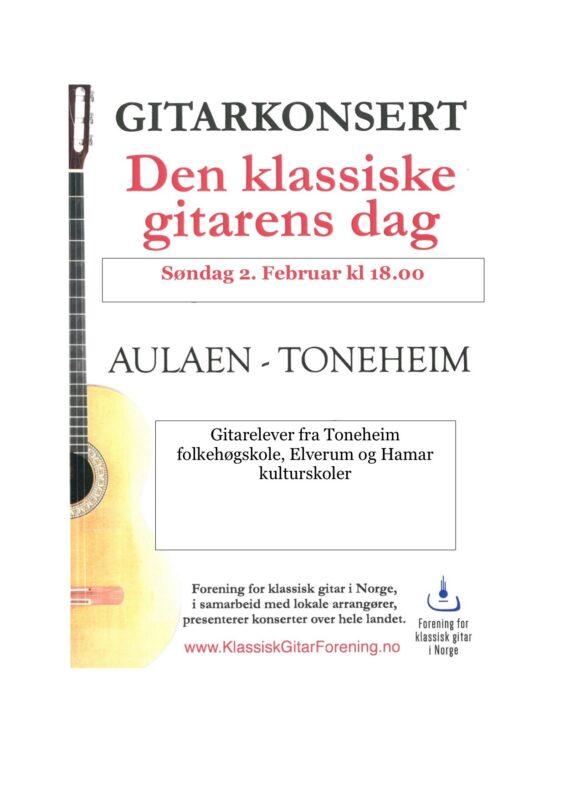 Konsertprogram gitarkonsert 2020